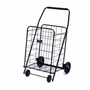 A sturdy shopping cart gives you mobility